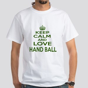 Keep calm and love Hand Ball White T-Shirt