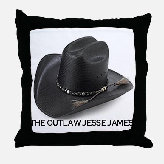 OUTLAW JESSE JAMES Throw Pillow