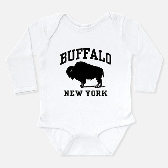 Cute Buffalo new york Long Sleeve Infant Bodysuit