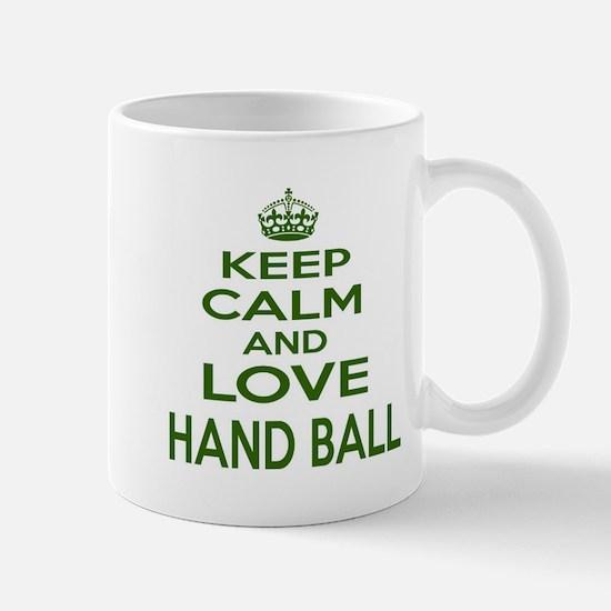 Keep calm and love Hand Ball Mug