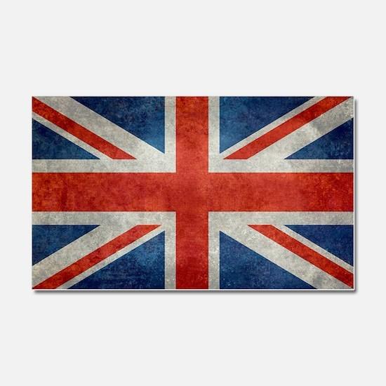 UK British Union Jack flag retr Car Magnet 20 x 12
