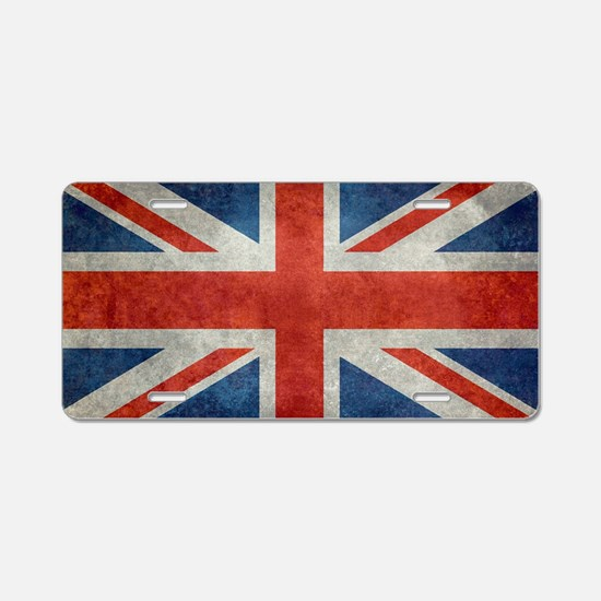 UK British Union Jack flag  Aluminum License Plate