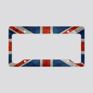 UK British Union Jack flag re License Plate Holder