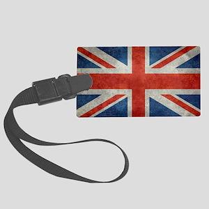UK British Union Jack flag retro Large Luggage Tag