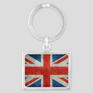 UK British Union Jack flag retr Landscape Keychain