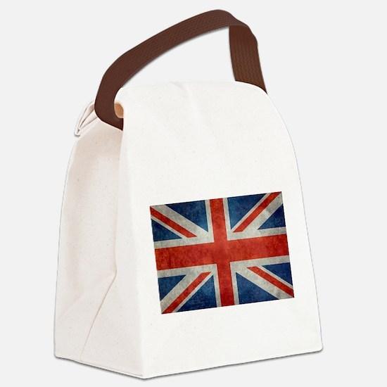 UK British Union Jack flag retro Canvas Lunch Bag
