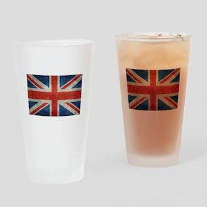 UK British Union Jack flag retro st Drinking Glass