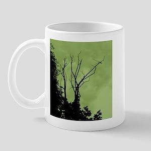 Tree Ornate Black & Green Mug