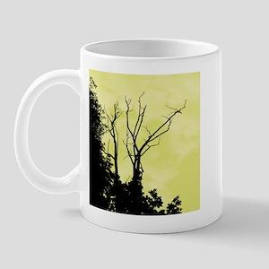 Tree Ornate Green/Yellow Mug