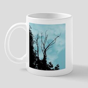 Tree Ornate Light Blue Mug