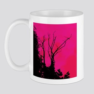 Tree Ornate Fuschia Pink Mug