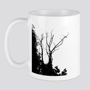 Tree Ornate Black and White Mug