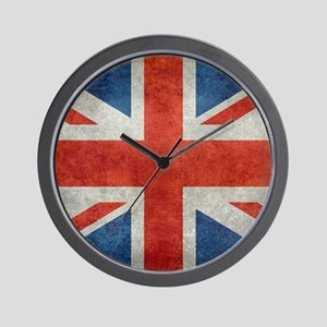 UK British Union Jack flag retro style Wall Clock