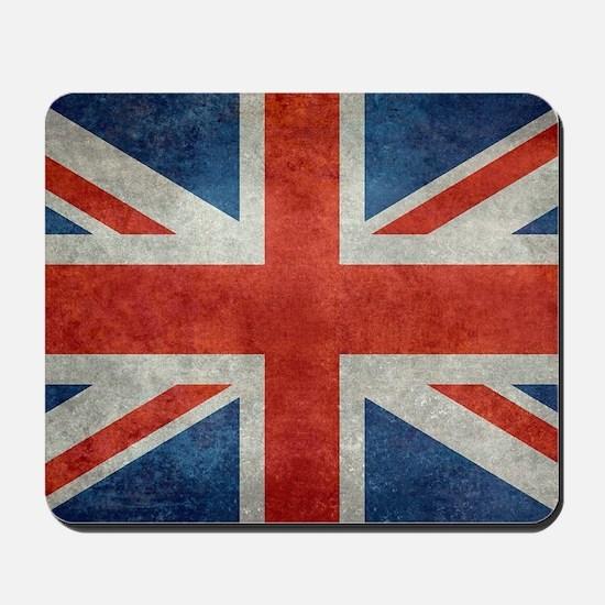 UK British Union Jack flag retro style 3 Mousepad