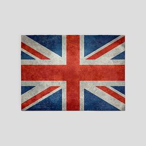 UK British Union Jack flag retro st 5'x7'Area Rug