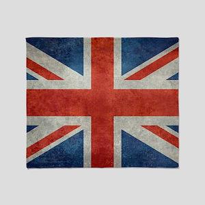 UK British Union Jack flag retro sty Throw Blanket