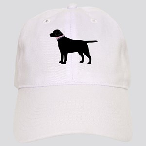 Preppy Black Lab Baseball Cap