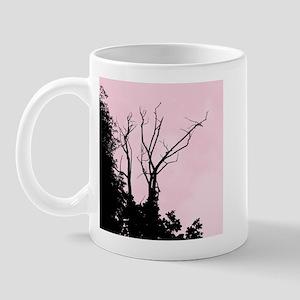 Tree Ornate Light Pink Mug