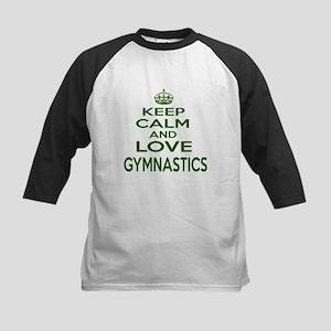 Keep calm and love Gymnastics Kids Baseball Tee