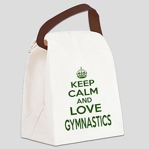 Keep calm and love Gymnastics Canvas Lunch Bag