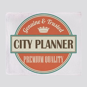 city planner vintage logo Throw Blanket