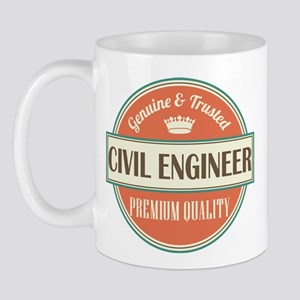 civil engineer vintage logo Mug