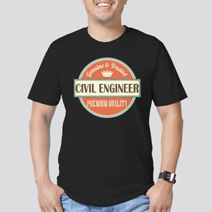 civil engineer vintage Men's Fitted T-Shirt (dark)