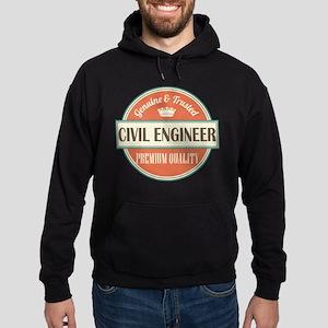 civil engineer vintage logo Hoodie (dark)