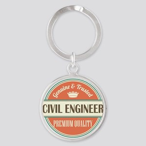civil engineer vintage logo Round Keychain