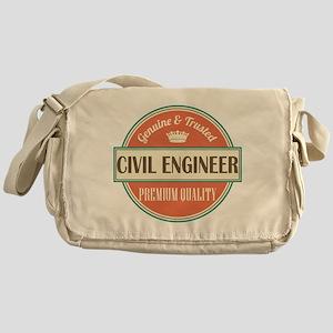 civil engineer vintage logo Messenger Bag