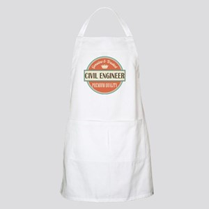 civil engineer vintage logo Apron
