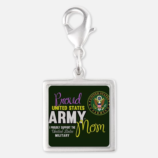 Proud Army Mom Seal Green Charms