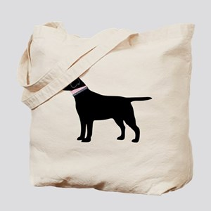 Preppy Black Lab Tote Bag
