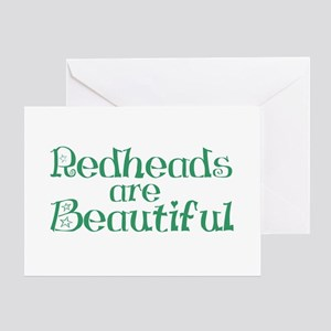 Redheads Are Beautiful Greeting Card