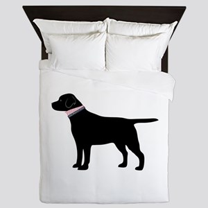 Preppy Black Lab Queen Duvet