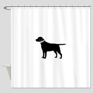 Preppy Black Lab Shower Curtain