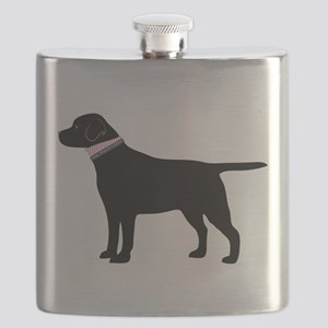 Preppy Black Lab Flask