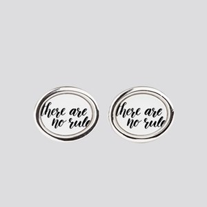 There Are No Rules Oval Cufflinks