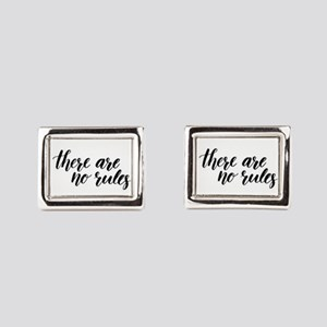 There Are No Rules Rectangular Cufflinks