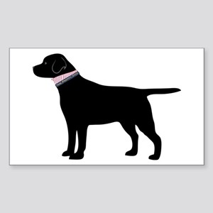 Black Lab Retriever Preppy Sticker