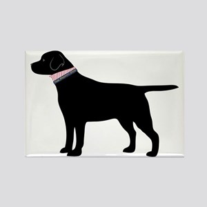 Black Lab Retriever Preppy Magnets
