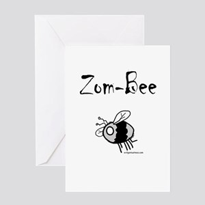 zombee Greeting Cards