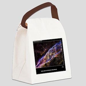Veil Nebula Supernova Remnant Hub Canvas Lunch Bag