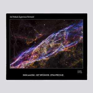Veil Nebula Supernova Remnant Hubble Throw Blanket