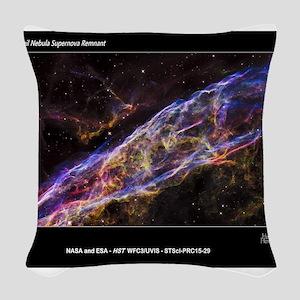 Veil Nebula Supernova Remnant Woven Throw Pillow