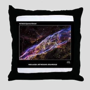 Veil Nebula Supernova Remnant Hubble Throw Pillow