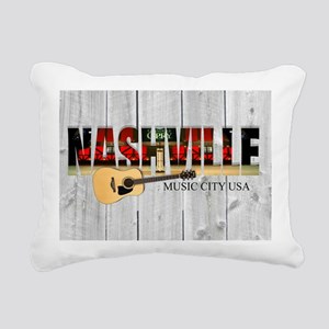 Nashville Music City-LS Rectangular Canvas Pillow
