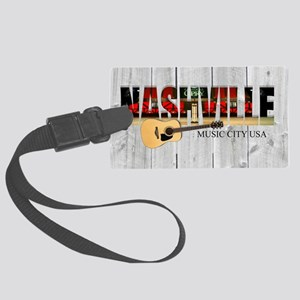 Nashville Music City-LS Large Luggage Tag