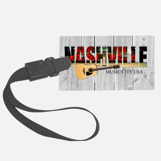 Nashville Music City-LS Luggage Tag