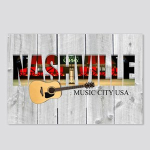 Nashville Music City-LS Postcards (Package of 8)
